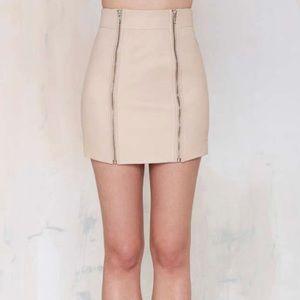 Nasty Gal genuine leather moto mini skirt